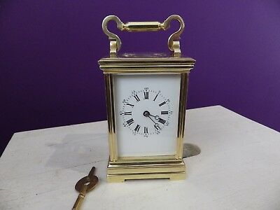 French Striking Carriage Clock Fully Restored Case Fully Serviced Movement 1890s