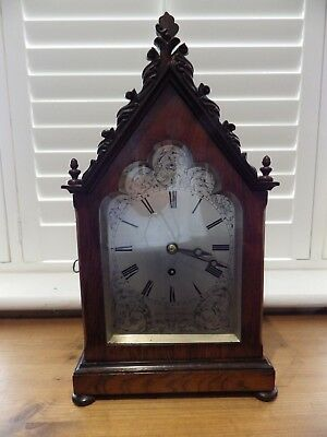 Fusee Mantle Clock By John Thomas New Road London Fully Restored Movement 1835