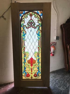 Beautiful Stained Glass Estate Entry Door With Safety Glass - Jhl161