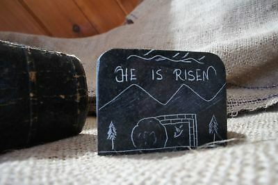 HE IS RISEN- Carved Serpentine Stone Magnet