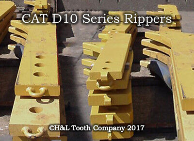 9J5954 Dozer D9 D10 Ripper Shank, Cat Style R500 Teeth, Made by H&L Tooth Co.
