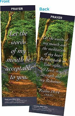 Let the Words of My Mouth Be Acceptable to You Bookmarks, Pack of 25