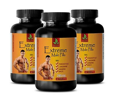 bodybuilding - EXTREME MALE PILLS 2185mg - natural testosterone booster - 3 Bot