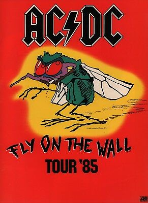 Ac/dc 1985 Fly On The Wall Tour Concert Program Book / Brian Johnson / Nmt