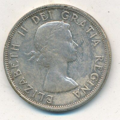 1954 Canada Silver 50 Cent Piece-Beautiful Gently Circulated-Free Shipping!