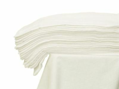 Large Muslin Square Cloth 70X80 Baby Reusable Nappy Wipes Bibs 100% Cotton White