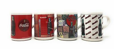 Coca-Cola Vintage 1997 Coffee Mugs Set of 4 - Coke Collectibles - Gibson