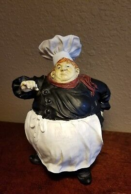 French Italian Bistro Fat Chef Figurine Kitchen Home Decor