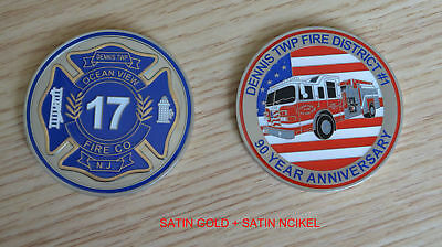 Fire Company, Badge, EMS Rescue New Jersey, Non-NYFD, Military, Patch Truck Coin