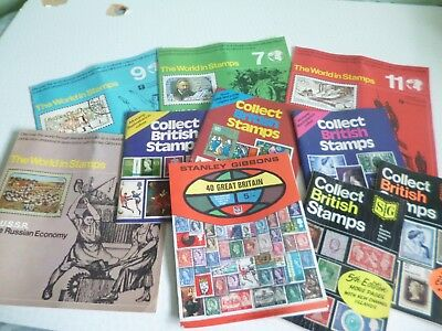 Joblot  Stamp Collecting Books - Stanley Gibbons Collect British Stamps Etc