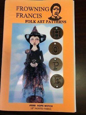 Frowning Francis Folk Art Pattern #898 Hope Witch Cloth Doll Pattern