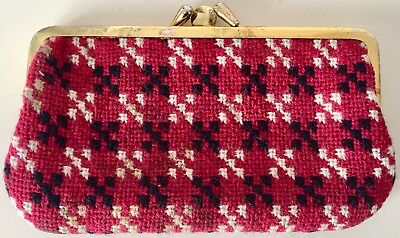 Vintage Cambrian Welsh Wool Tapestry Purse