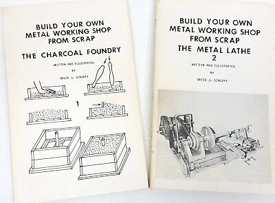 2 Book Set Build your Own Metal Working Shop from Scrap Foundry & Lathe -Gingery