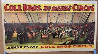 Cole Bros Circus Poster - Grand Entry - Mint! - Original Another Us Poster