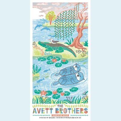Avett Brothers Poster House of Blues North Myrtle Beach SC 3/16/2018 Art Print