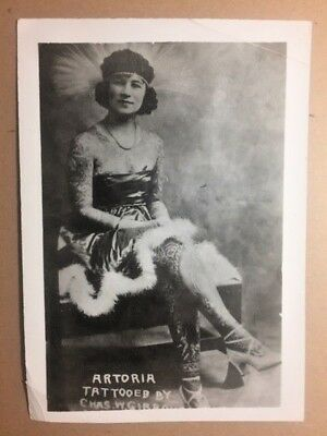 Vintage Tattoo Photograph Kobel T52 Astoria Gibbons