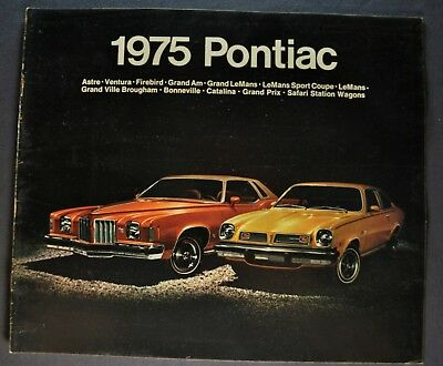 1975 Pontiac 20pg Brochure Firebird Trans Am Grand Prix Am Bonneville LeMans 75