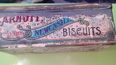 vintage tin Arnotts Newcastle Biscuit tin