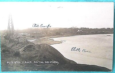 Vntg RPPC 1920 Midwest Ref. OIL CAMP on the Big Muddy, Wy photo POSTCARD