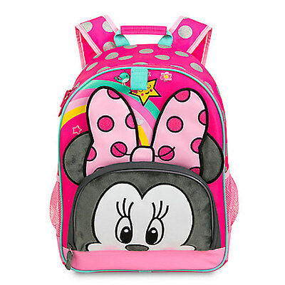 NWT Disney Store Minnie Mouse Backpack School Girls Pink Polka Dots