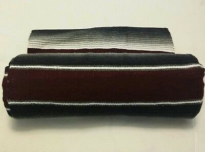 Serape 84x64 inch Mexican blanket Seat cover Lowrider,motorcycle  Burgundy Gray