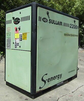 Sullair 30hp Rotary Screw Air Compressor Variable Speed 3PH 575V AS IS