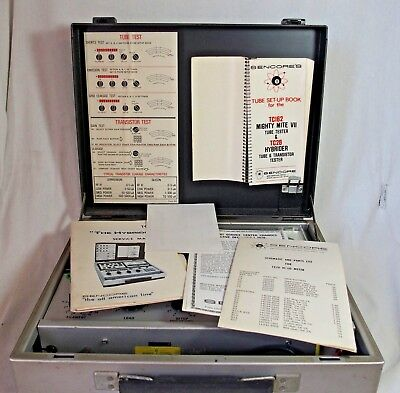 Sencore Tube Tester TC-162 TC162 Mighty Mite VII & Manuals