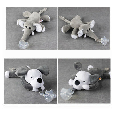 Animal Toy Girls Boys Dummy Soother Nipple Chain Clip Plush Baby Boy Pacifier