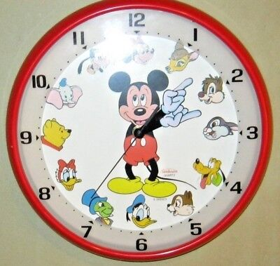 Mickey Mouse Wall Clock - Disney - Made by Sunbeam - Quarts