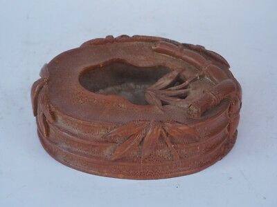 Chinese Exquisite Hand carved bamboo carving bamboo Brush Washer