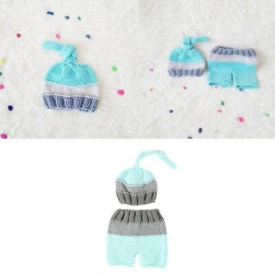 New Newborn Baby Girl Boy Crochet Knit Hat Costume Photography Prop Outfit Set#