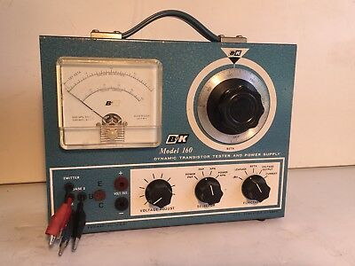 B&K Model 160 Dynamic Transistor Tester & Power Supply Vintage HAM Radio