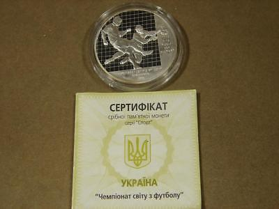 2004 Ukraine 10 Hryvnias FIFA World Cup 925 Silver Proof Coin With Coa