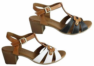 126400aec88 New Le Sansa By Cc Resorts Layla Womens Comfort Leather Mid Heel Sandals
