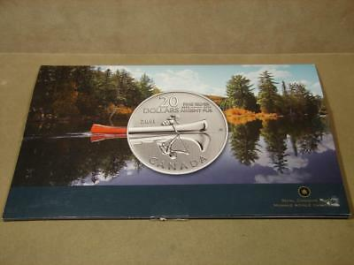 2011 Canada $20 First Nations Canoe 99.99 Silver Proof Commemorative Coin