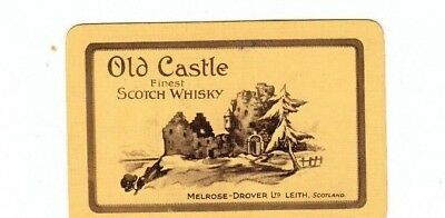 1 Playing Swap Card Brewery Old Castle Finest  Scotch  Whisky Leith Scotland
