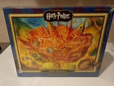 Rare  Harry Potter 'hogwarts' 500 Pc Jigsaw Puzzle # Made In The Usa # 24' X 18'