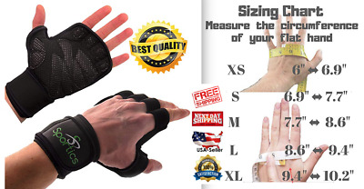 CROSSFIT GLOVES WEIGHT Lifting Wrist Support Gym Workout Cross Training  Fitness