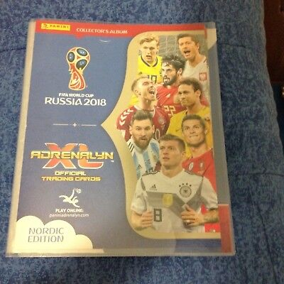 Panini Adrenalyn World Cup Russia 2018  🇷🇺 Raccoglitore Binder Nordic Edition