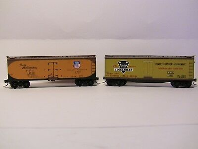 N Scale - 2 MTL older type ice reefers - PFE and STOKELY VEGETABLES