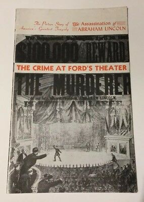 RARE 1944 Booklet - Abraham Lincoln The Crime at Ford's Theater by Edward Kelly