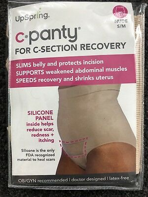 New C Panty Silicone Recovery Pants Active Recovery Small-Medium Nude
