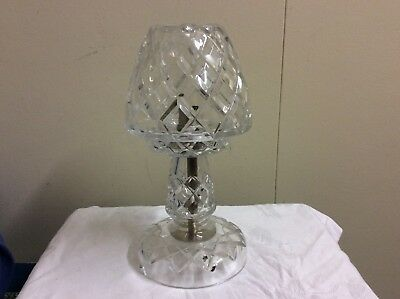 Vintage Antique cut Heavy Lead crystal Boudoir lamp