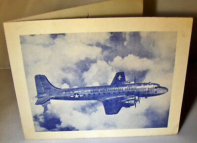 1944 WW2 Christmas Card from Naval Air Transport Squadron One - European Theater