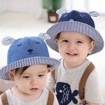 AU Summer Bucket Beach Outdoor Cute Baby Sun Hat Toddler Cap Girl Infant Newborn