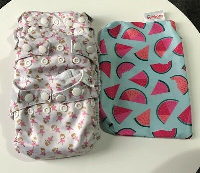 3 NEW Bambooty Easy Dry Modern Reusable Cloth Nappies   Small Size