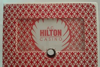 AC Hilton Casino Atlantic City Playing Card Red Deck Complete With Jokers