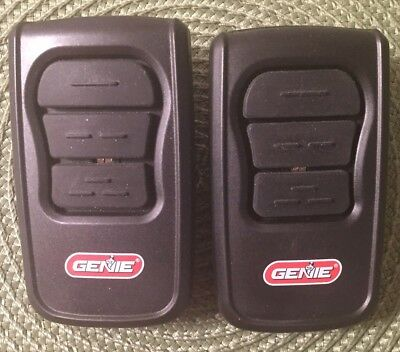 2 Genie Remote 3 Button Garage Door Openers Model GM3T