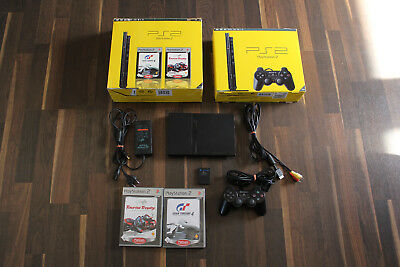 Playstation 2 PS 2 Konsole in OVP + Controller + Gran Turismo 4 + Tourist Trophy