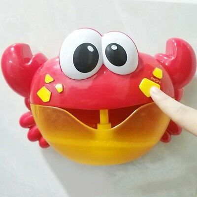 New Baby Crab Bubble Maker Toy Shower With Music Bubble Blower Fun Bath Toy